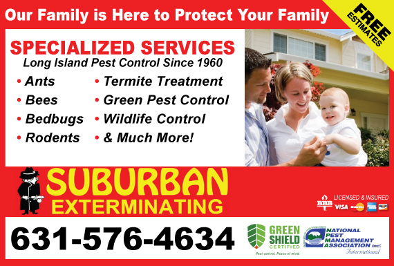 Exclusive Ad: Suburban Exterminators Smithtown 6316297920 Logo