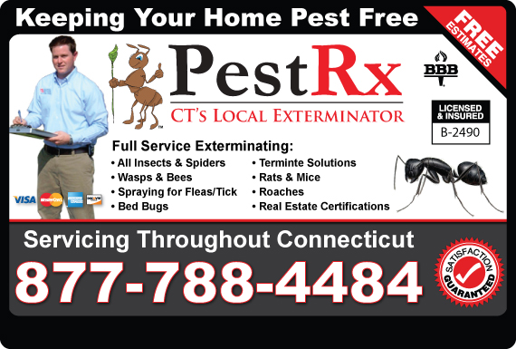 Exclusive Ad: PestRx Hamden 8887888178 Logo