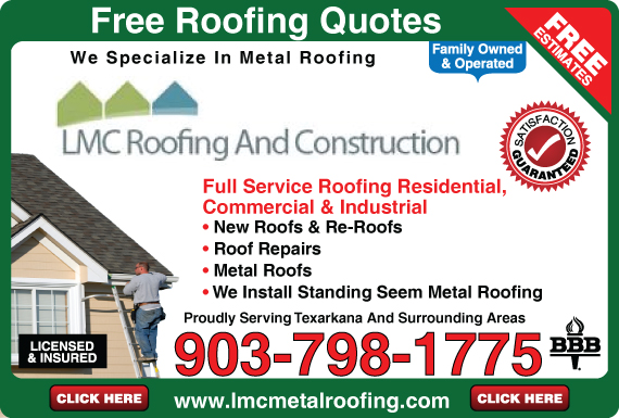 Exclusive Ad: 208-LMC Roofing Maud 9037981775 Logo