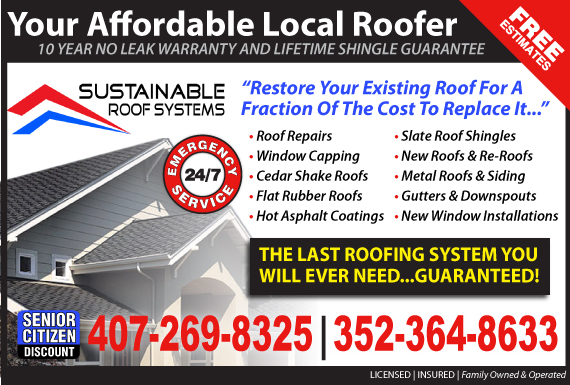 Exclusive Ad: Sustainable Roof Systems of Florida  3526000840 Logo
