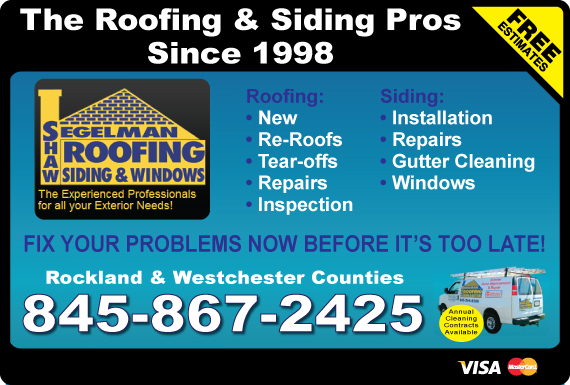 Exclusive Ad: Segelman Shaw Roofing, Siding & Gutters LLC  8452003045 Logo