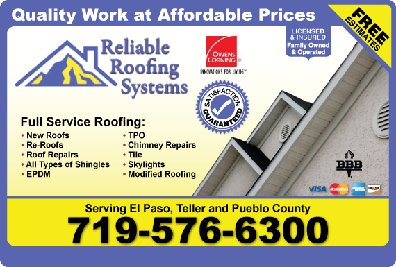Exclusive Ad Reliable Roofing Systems Inc Colorado