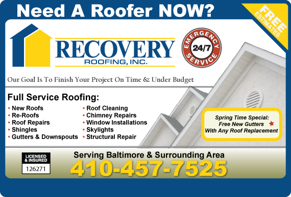 Exclusive Ad: Recovery Home Improvement Dundalk 4109296970 Logo