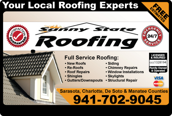 Exclusive Ad: Sunny State Roofing Inc.  9414266000 Logo
