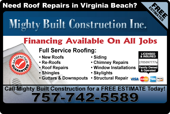 Exclusive Ad: Mighty Built Construction Inc  7572062420 Logo