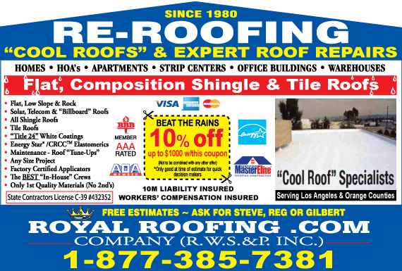 Exclusive Ad: Royal Roofing Pros  5629281200 Logo