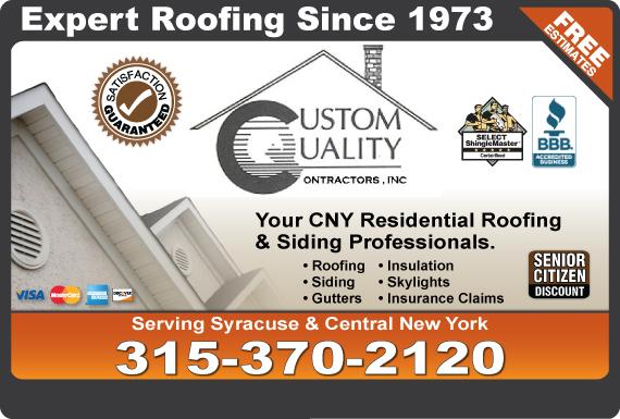 Exclusive Ad: Custom Quality Contractors Inc  3153752640 Logo