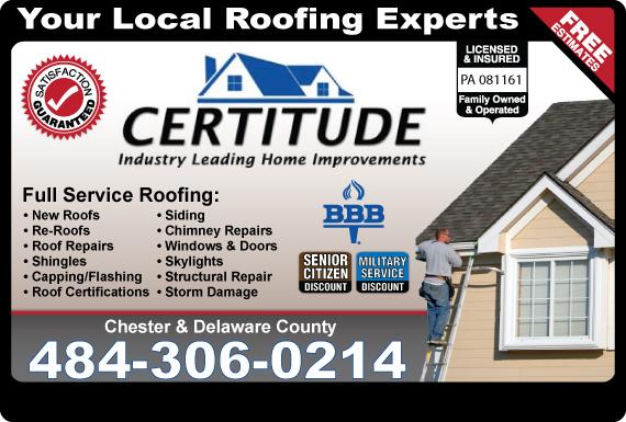 Exclusive Ad Certitude Roofing 4842820160 Logo