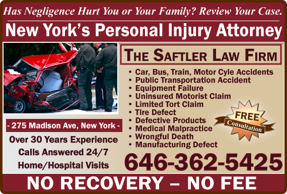 Exclusive Ad: The Saftler Law Firm New York 6468650797 Logo