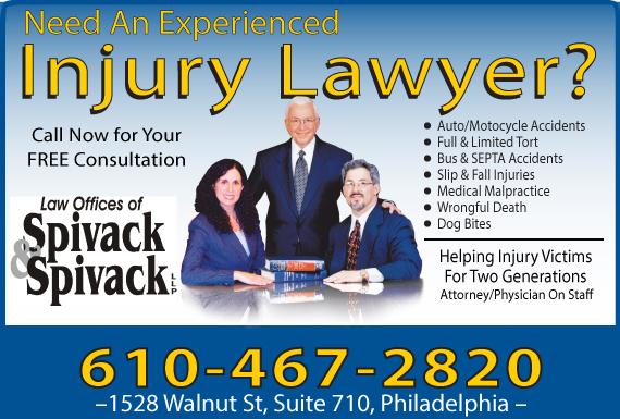 Exclusive Ad: Spivack & Spivack LLP Philadelphia 2155468999 Logo