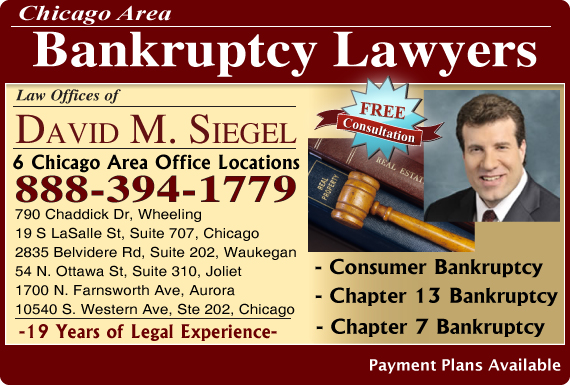 Exclusive Ad: Law Offices of David M. Siegel - Bankruptcy Wheeling 8475208100 Logo