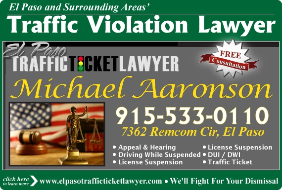 Exclusive Ad: Michael Aaronson Law Firm El Paso 9155330110 Logo