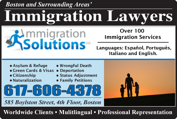 Exclusive Ad: Immigration Solutions LLC Boston 6175360584 Logo