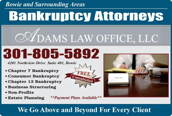 Exclusive Ad: Adams Law Office LLC Bowie 3018055892 Logo