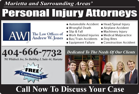Exclusive Ad: Law Offices Of Andrew W. Jones Marietta 4048509960 Logo
