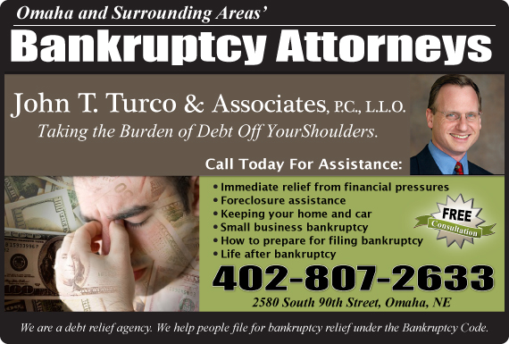 Exclusive Ad: Turco & Associates Attorneys At Law Omaha 4029338036 Logo