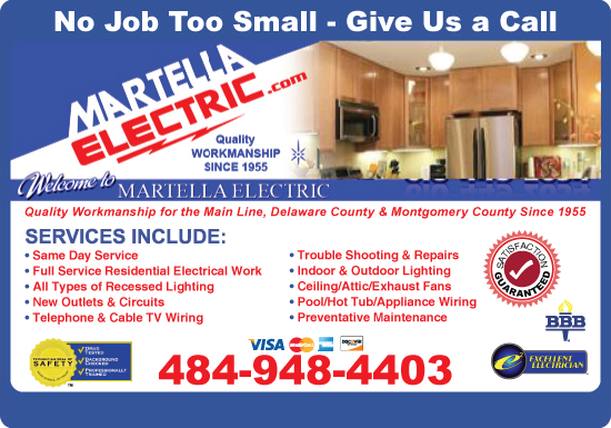 Exclusive Ad: Martella Electric Company  4844164440 Logo
