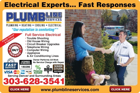 Exclusive Ad: Plumbline Services, Inc. Englewood 3034362525 Logo