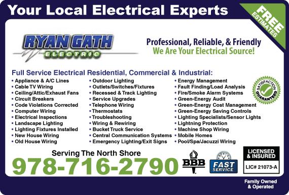Exclusive Ad: Ryan Gath Electric Chelmsford 9785694775 Logo