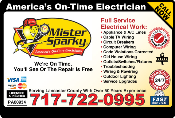 Exclusive Ad: Mister Sparky Electric Lancaster 7173884622 Logo