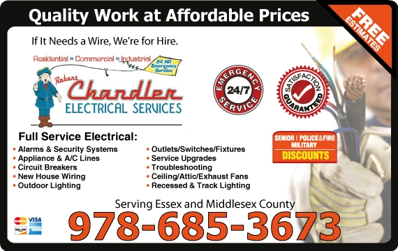 Exclusive Ad: Chandler Electric  9786853673 Logo