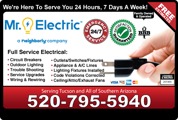 Exclusive Ad: Mr. Electric Of Tucson  5207955940 Logo