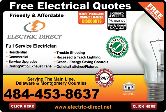 Exclusive Ad: Electric Direct  4844538637 Logo