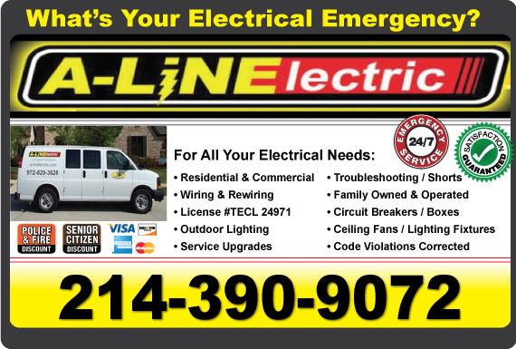 Exclusive Ad: A-Line Electric Coppell 2144951100 Logo