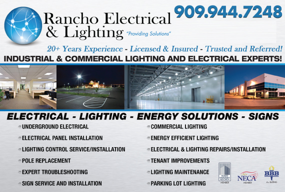 Exclusive Ad: Rancho Electrical And Lighting San Bernardino 9099447248 Logo