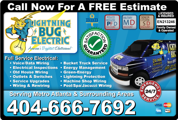 Exclusive Ad: Lightning Bug Electric Marietta 4049394989 Logo