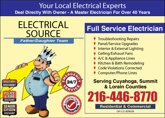 Exclusive Ad: Electrical Source Broadview Heights 2167897544 Logo