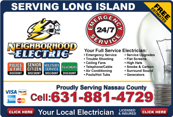 Exclusive Ad: Neighborhood Electric-631 Melville 6312237105 Logo