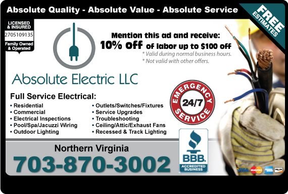 Exclusive Ad: Northern VA  7038796970 Logo