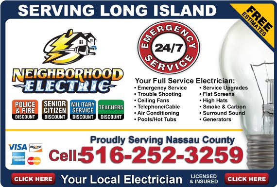 Exclusive Ad: Neighborhood Electric-516 Oyster Bay 5162006310 Logo