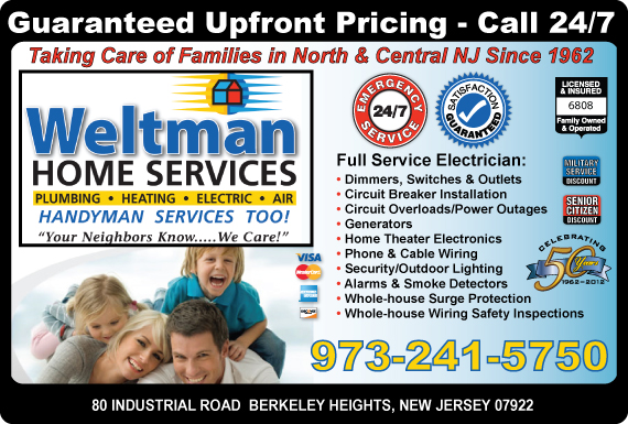 Exclusive Ad: Weltman Home Services Berkeley Heights 9735322323 Logo