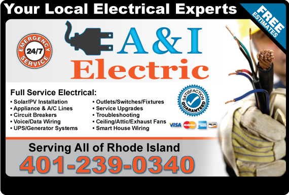 Exclusive Ad: A & I Electric  4013491440 Logo