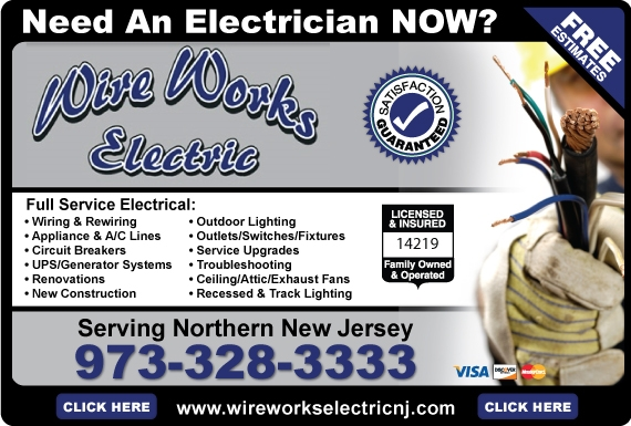 Exclusive Ad: Wire Works Electric LLC  9733283333 Logo