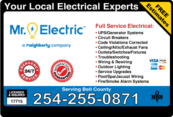 Exclusive Ad: Mr. Electric Of McLennan County Hewitt 2548294860 Logo