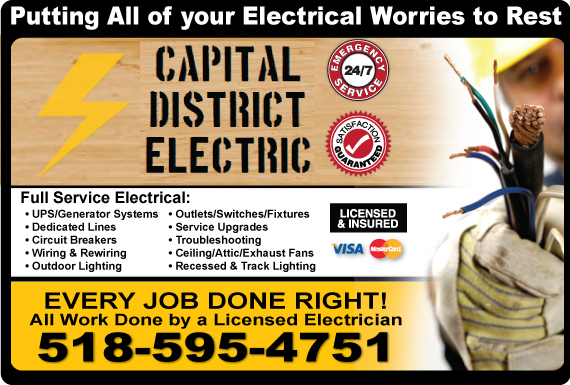 Exclusive Ad: Capital District Electric  5182033310 Logo