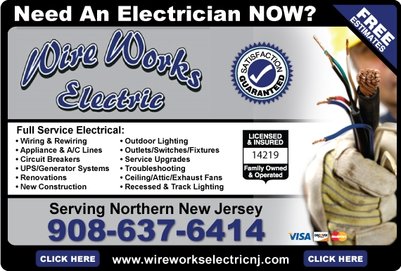 Exclusive Ad: Wire Works Electric LLC - 908  9086376414 Logo