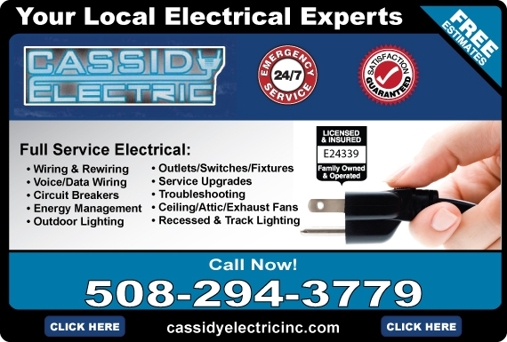 Exclusive Ad: Cassidy Electric, Inc  5082943779 Logo