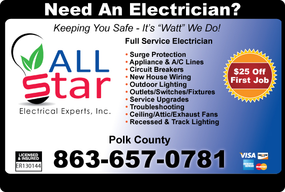 Exclusive Ad: Allstar Electrical Experts - 863 Lakeland 8639400770 Logo