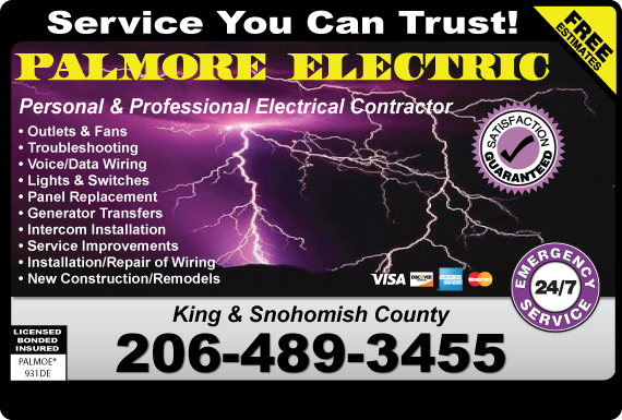 Exclusive Ad: Palmore Electric  2065128286 Logo