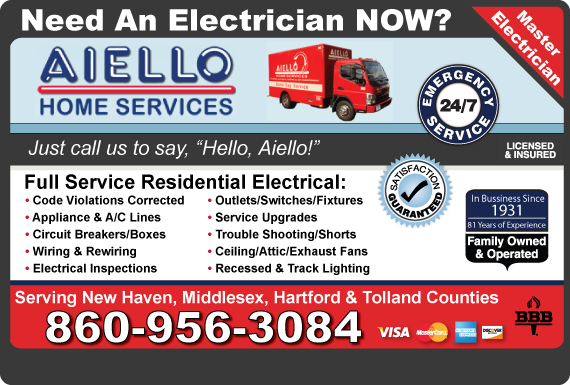 Exclusive Ad: Aiello Home Services  8606345000 Logo