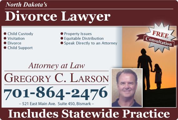 Exclusive Ad: Attorney Gregory C. Larson Bismarck 7012035380 Logo