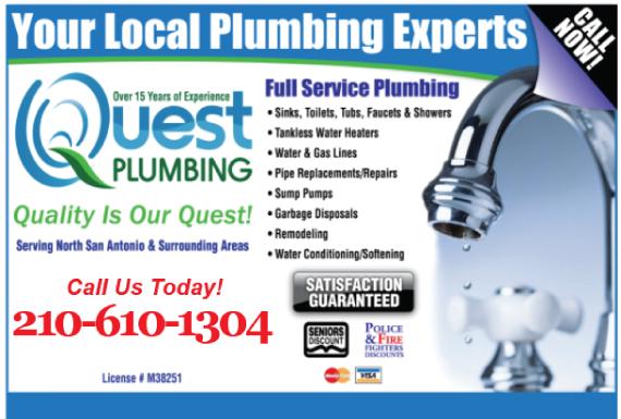 Exclusive Ad: Quest Plumbing San Antonio 2102278378 Logo