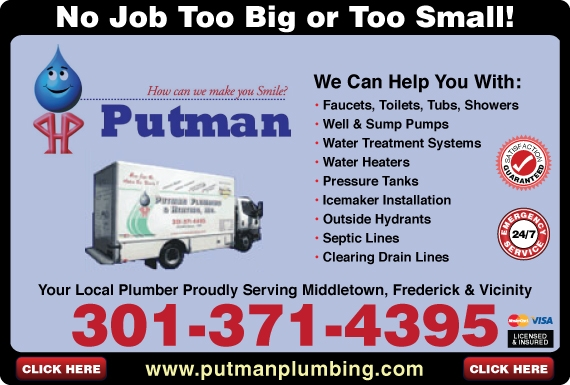 Exclusive Ad: Putman Plumbing & Heating, Inc.  3013714395 Logo