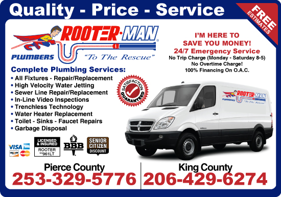 Exclusive Ad: Rooter Man of WA Puyallup 2532001740 Logo