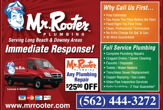 Exclusive Ad: Mr. Rooter of Long Beach  5624443272 Logo