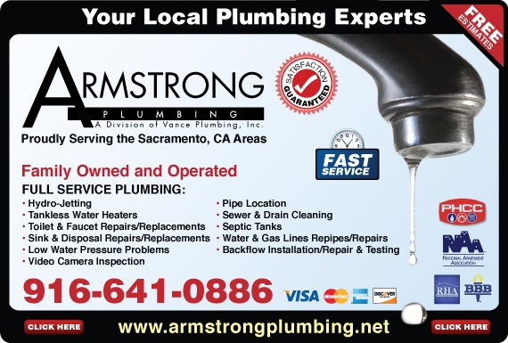 Exclusive Ad: 59-Armstrong Plumbing  9166410886 Logo